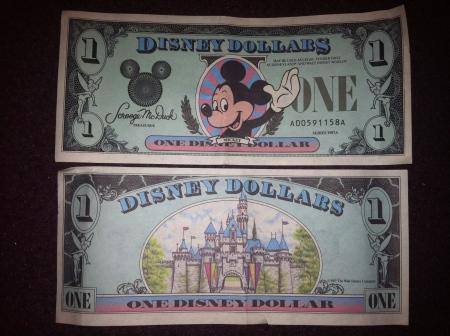 Day 108 - Disney Dollars from 1987